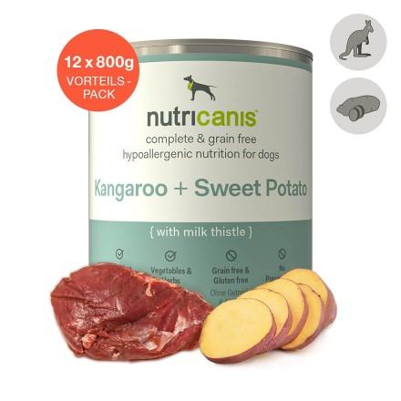 Adult wet dog food: 12 x 800g Kangaroo + Sweet Potato