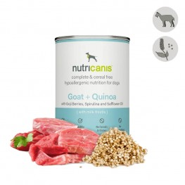 Adult wet dog food: 400g Goat + Quinoa with milk thistle